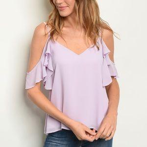 Off the shoulder Lilac Blouse